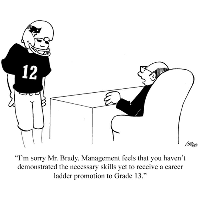 I'm sorry, Mr. Brady. Management feels that you haven't demonstrated the necessary skills yet to receive a career ladder promotion to Grade 13.