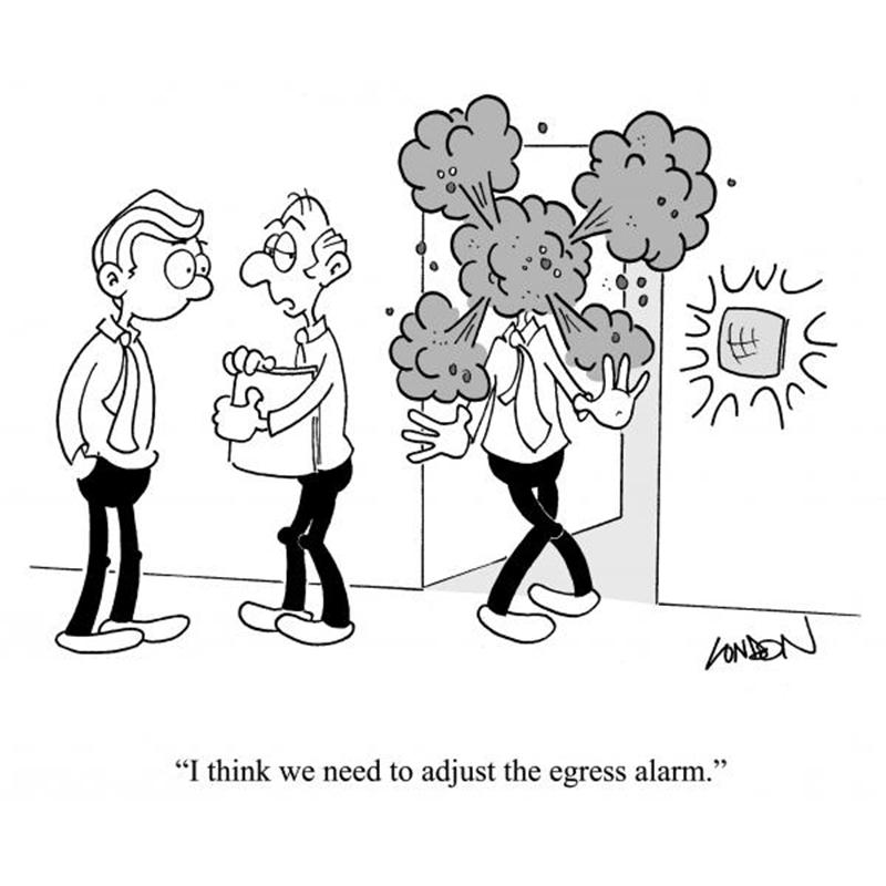 I think we need to adjust the egress alarm