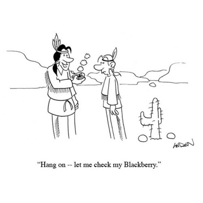 Hang on - let me check my Blackberry